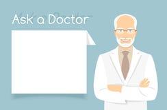 Peça uma bandeira do doutor Information ilustração royalty free