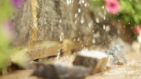 Peças artificiais da cachoeira video estoque