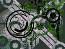 Peças brancas e verdes da máquina sobre o preto ilustração do vetor