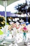 Peças centrais havaianas do casamento Foto de Stock Royalty Free
