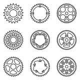 Peças da bicicleta Linha fina vetor foto de stock royalty free