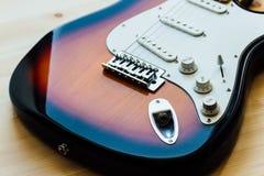 Peças da guitarra elétrica Imagem de Stock Royalty Free