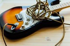 Peças da guitarra elétrica Fotografia de Stock Royalty Free