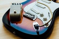 Peças da guitarra elétrica Imagens de Stock
