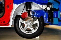 Peças da roda de um carro Fotografia de Stock Royalty Free