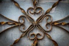 Peças decorativas das portas do metal, elementos do forjamento da mão imagens de stock royalty free