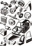 Peças do carro ilustração royalty free