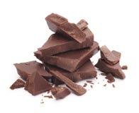 Peças do chocolate fotografia de stock royalty free