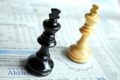 Peças do jogo de xadrez Foto de Stock Royalty Free