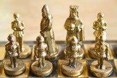Peças do jogo de xadrez Fotografia de Stock