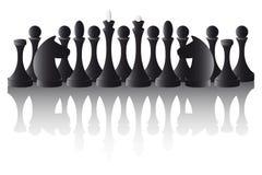 Peças do jogo de xadrez ilustração royalty free