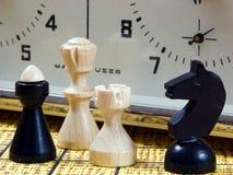 Peças do jogo de xadrez Imagem de Stock