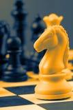 Peças do jogo de xadrez Imagens de Stock