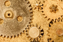 Peças do relógio do vintage Imagem de Stock