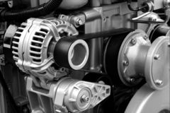 Peças e componentes de motor imagem de stock royalty free