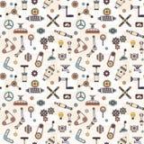 Peças e detalhes de máquinas e de dispositivos industriais ilustração royalty free