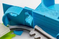Peças impressas coloridas usando a impressora 3d Fotos de Stock