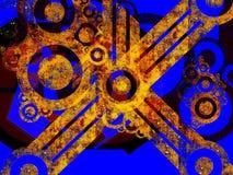 Peças industriais oxidadas da máquina ilustração royalty free