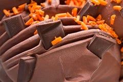 Peças macro do gelado e do chocolate Foto de alta resolu??o fotos de stock royalty free