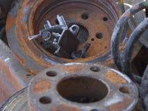 Peças oxidadas do carro Fotografia de Stock