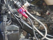 Peças sobresselentes da motocicleta Foto de Stock Royalty Free
