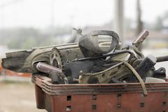 Peças sobresselentes da motocicleta Imagens de Stock