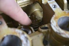 Peças sobresselentes do motor Fotografia de Stock