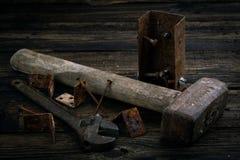Peças sobresselentes e instrumentos Imagem de Stock