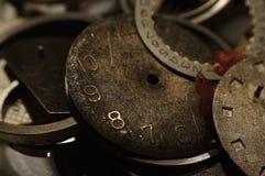 Peças velhas do relógio Foto de Stock
