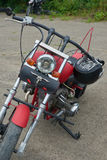 Peças vermelhas da motocicleta Foto de Stock