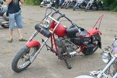 Peças vermelhas da motocicleta Imagem de Stock