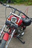 Peças vermelhas da motocicleta Imagem de Stock Royalty Free