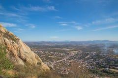 PEÑA DE BERNAL- is a monolith in the Queretaro state of Mexico. PEÃ'A DE BERNAL- is a monolith in the Queretaro state of Mexico, travel, rock royalty free stock photo