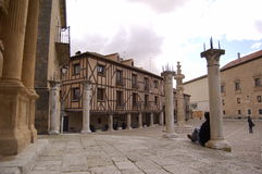 Peñaranda carré principal Duero photographie stock