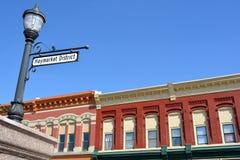 Peñascos del Distrito-consejo de Haymarket, Iowa Imágenes de archivo libres de regalías