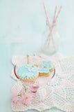 Peões do açúcar da festa do bebê fotografia de stock