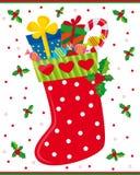 Peúga do Natal ilustração royalty free