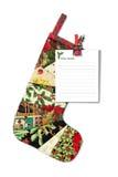 Peúga do Natal com letra a Santa Claus imagem de stock