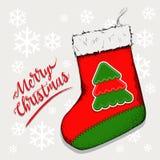 Peúga do Natal para os presentes que penduram na chaminé Ilustração de Nicholas Vetora de Saint da peúga ilustração stock