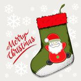 Peúga do Natal para os presentes que penduram na chaminé Ilustração de Nicholas Vetora de Saint da peúga ilustração royalty free