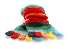 Peúgas coloridas do dedo do pé Foto de Stock