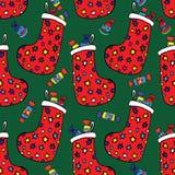Peúgas com presentes do Natal Imagens de Stock Royalty Free