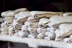Peúgas de lã Fotografia de Stock