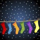 Peúgas do Natal Foto de Stock Royalty Free