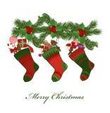 peúgas do Natal ilustração do vetor