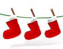 Peúgas do Natal Foto de Stock