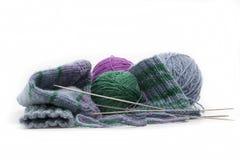Peúgas tricotadas manualmente Imagem de Stock Royalty Free