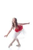 Pełen wdzięku balerina taniec, odizolowywający na bielu Zdjęcia Royalty Free