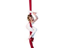 Pełen wdzięku gimnastyczki spełniania anteny ćwiczenia Zdjęcie Royalty Free