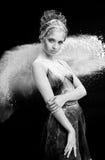 Pełen wdzięku kobieta taniec w chmurze pył Obrazy Stock